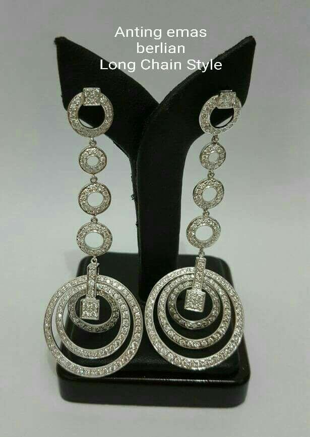 New Arrival🗼. Anting Emas Berlian Longchain Style💍💎.   🏪Toko Perhiasan Emas Berlian-Ammad 📲+6282113309088/5C50359F Cp.Antrika👩.  https://m.facebook.com/home.php #investasi #diomond #gold #beauty #fashion #elegant #musthave #tokoperhiasanemasberlian