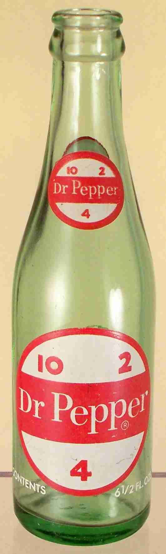 Old Dr Pepper Bottles | both shoulders: Dr Pepper (in circle with 10, 2 and 4)