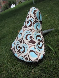 bike seat cover. Great tutorial... I whipped up one of these last night!