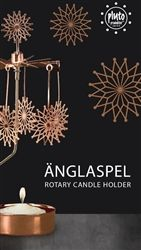 Pluto Produkter Flowerstar Copper Rotary Candle Holders at Northlight