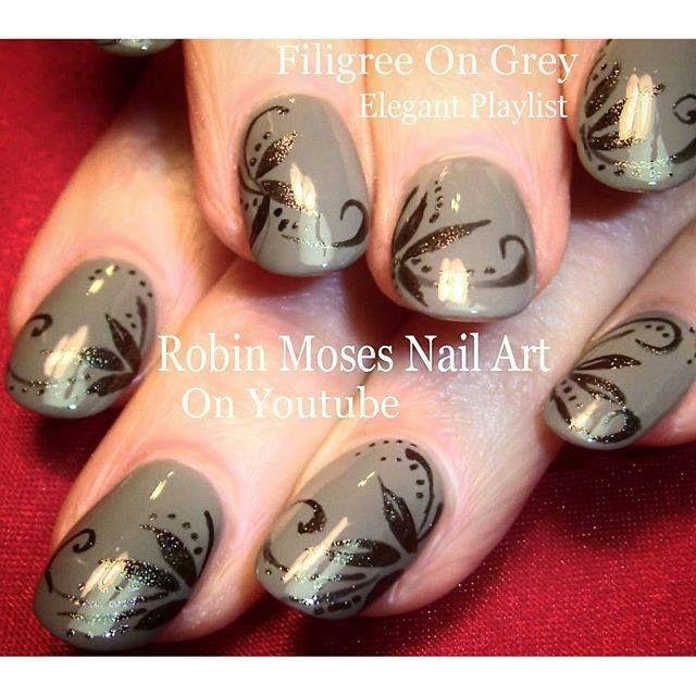 Filigree on grey