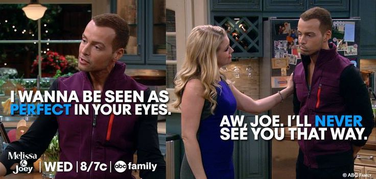 """S3 Ep23 """"Couples Therapy"""" - Haha, we know the truth, she loves him #MelissaAndJoey"""