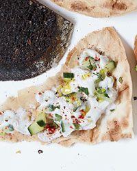 Flatbreads with Cucumber Raita Recipe