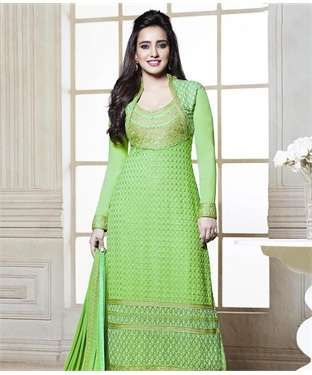 Faux Georgette Suit with Lining