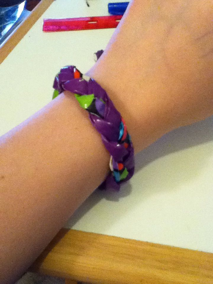 How to Make a Braided Duct Tape Bracelet