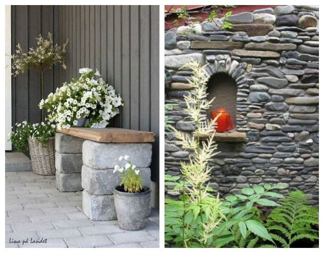 How Add To The Outdoors Of The House Or Countryside The Unparalleled Aesthetic Of Stone Exterior Stone Stone Fountains Backyard Garden
