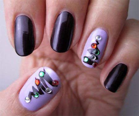 36 best simple christmas nail art designs images on pinterest simple christmas nail art designs prinsesfo Images