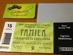 Tarjetas e Invitaciones - Foto Nº: 8 de tarjetas e invitaciones de Delicados Detalles - Tarjeta tipo ticket personalizada