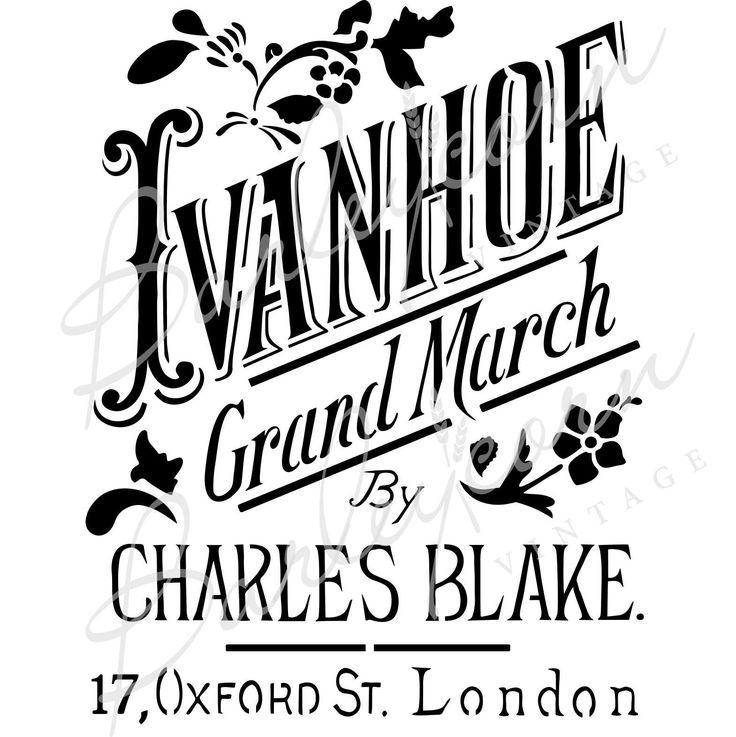FS36 Ivanhoe Grand March #barleycornvintagestencils #mylar #madeinaustralia #ivanhoegrandmarchstencil