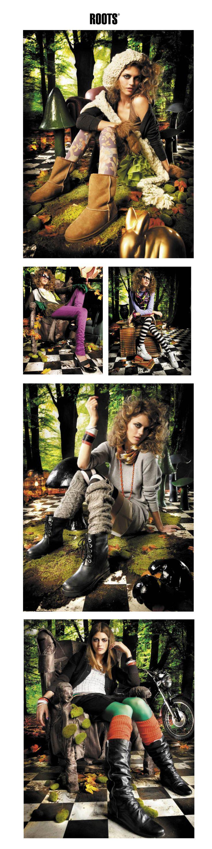 Roots campaign Autumn/winter `09 • Fotoopptak • Butikkmateriell • Profilmateriell • Katalog