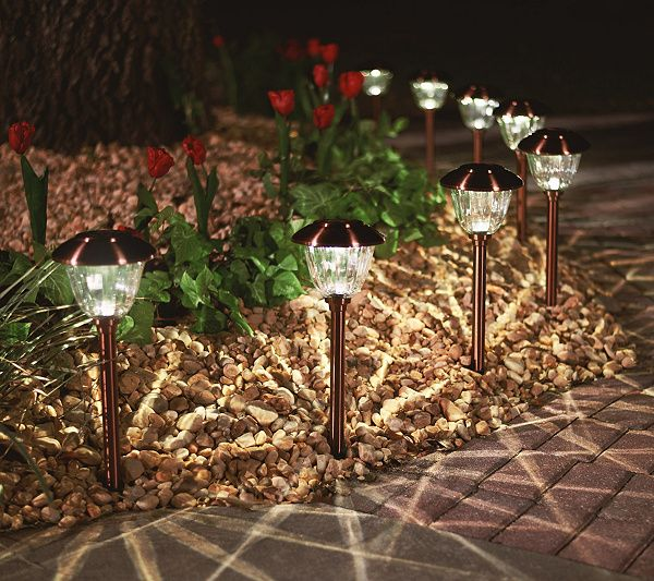 Energizer 8 Piece Solar Landscape Light Set Page 1 Qvc Com Solar Landscape Lighting Landscape Lighting Path Lights