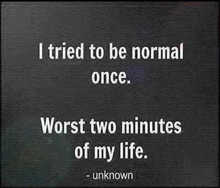 A nice reminder to not be afraid to break from the norm and challenge the status quo :-)