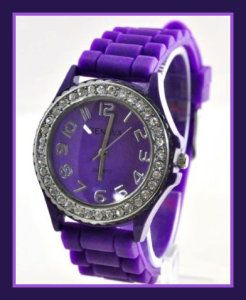 New Silicone Gel Ceramic Style Jelly Band Crystal Bezel Womens Watch Purple These Ceramic Watches For Women are sold by Exquisite Collections. Ther is a 30-Day Limited Warranty provided by the seller, instead of the manufacturer http://theceramicchefknives.com/ceramic-watches-women/