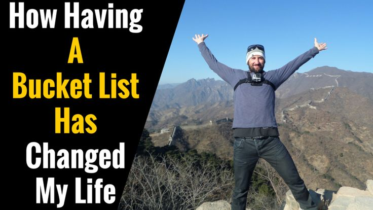 Starting a bucket list has been one of the best things I've ever done. It's given me a real reason to live a life of adventure. Check out the post here on how having a bucket list has changed my life.