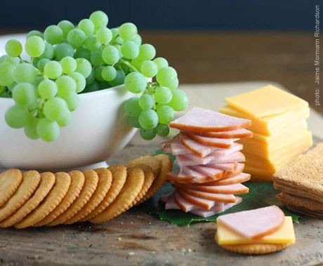 Homemade Lunchables ... Apparently I'm not the first person to think paying an outrageous price for a box of crackers cheese and ham is idiotic.  But my kids love the idea of Lunchables.  In the store today I decided we are going to make them ourselves from now on.
