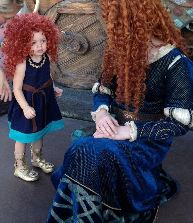 Merida inspired dress from Brave Princess Party Dress Up --  boutique girls toddler costume children clothing. $38.50, via Etsy.