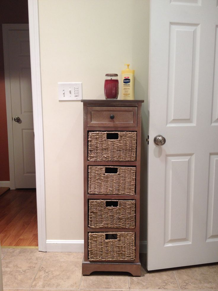 Bathroom Storage Cabinet 100 From Home Goods Real Wood And Wicker Basket Shelves For The