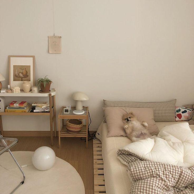 A R I E L Beige Room Room Inspiration Bedroom Room Design Bedroom Korean style minimalist aesthetic room