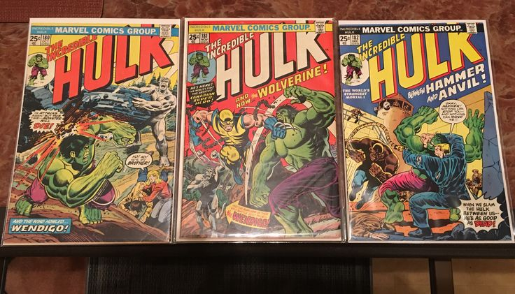 Hulk 180-182.  Wolverine first appearance my copies