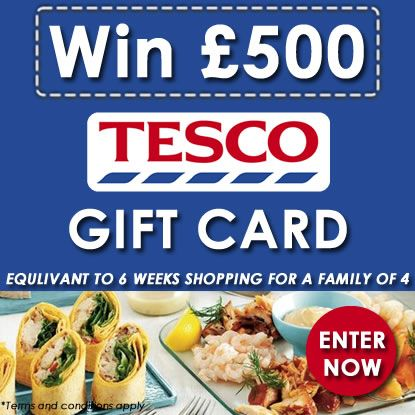 Win £500 Tesco Gift Card with Personalized Gifts Shop:  https://www.facebook.com/personalisedgiftsshop