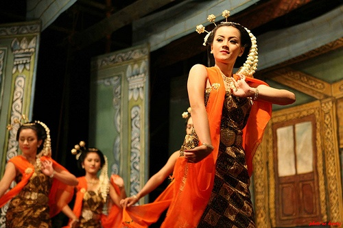 Gambyong, traditional dance from Java, Indonesia.