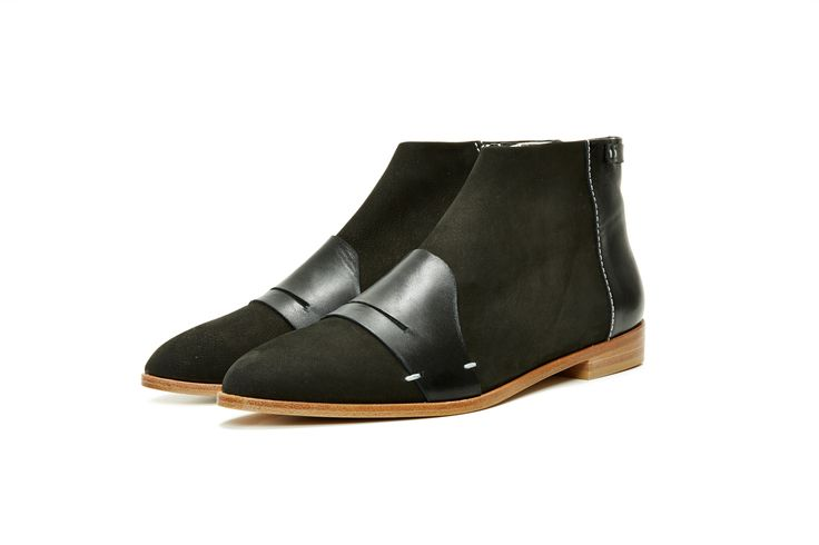 Alex Boot, Black. Vegetan leather. By Terhi Pölkki