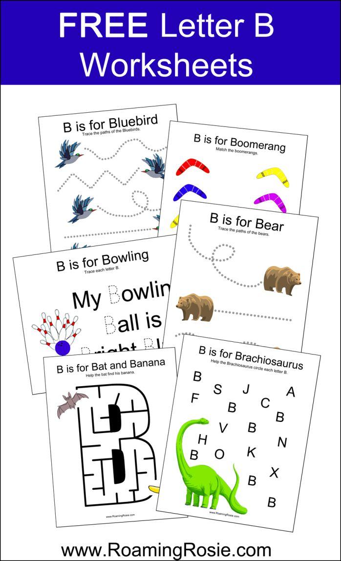 Worksheets For Learning Support : Free letter b worksheets for kindergarten kids letters