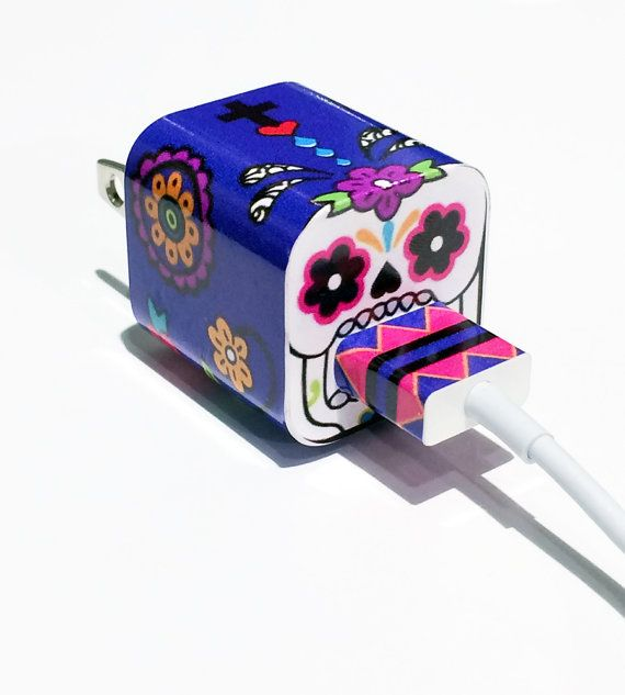 Hey, I found this really awesome Etsy listing at https://www.etsy.com/listing/194246848/techtattz-sugar-skull-usb-charger-decal