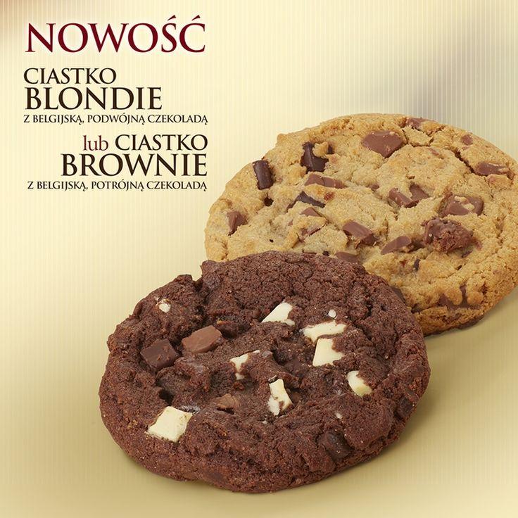 Blondie czy brownie? Do każdej kawy ciastko za 6,50 zł. | Blondie or brownie? To each coffee   we give you a cookie for free.
