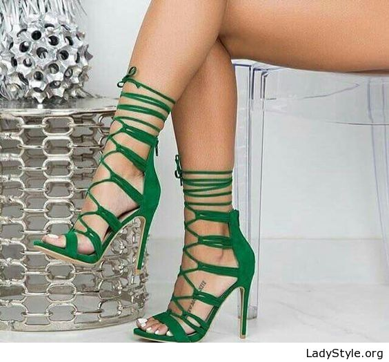 2d865176cd6c Amazing green sandals design - LadyStyle. Amazing green sandals design -  LadyStyle Green High Heels ...