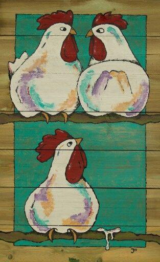 Het poepje. Kippen op stok. jojpm.123website.nl