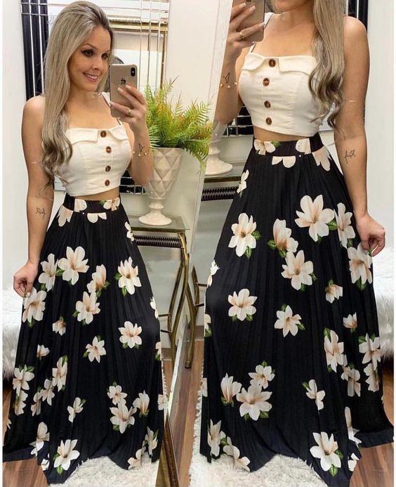 15 Looks con las Faldas Estampadas de Moda