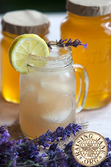 Lavender & Honey Lemonade: Prep Time: 10 Minutes Cook Time: 15 Minutes Makes: 6 Cups 4½ cups water, divided 3    T dried lavender 6-8 lemons ½   cup sugar ¼   cup honey