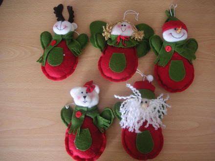 Resultado de imagen para adornos navideños 2014 manualidades