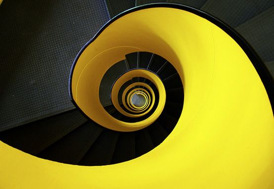 Black and Yellow Epic Staircase