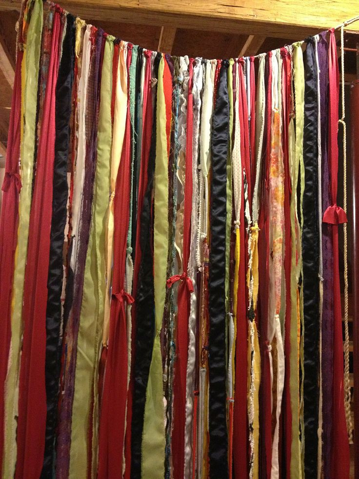 Hippie Boho Fabric Garland Room Divider Teen Room Nursery  4 ft X 7 ft. $75.00, via Etsy.