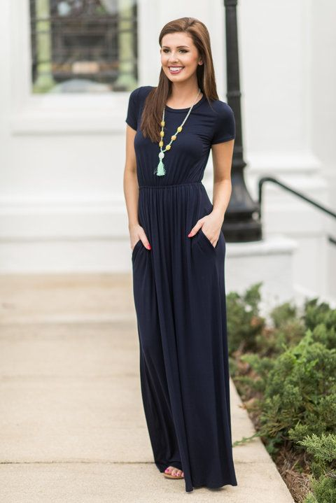 d7da56788d4 This classic maxi dress is so easy to wear! You can wear it for just