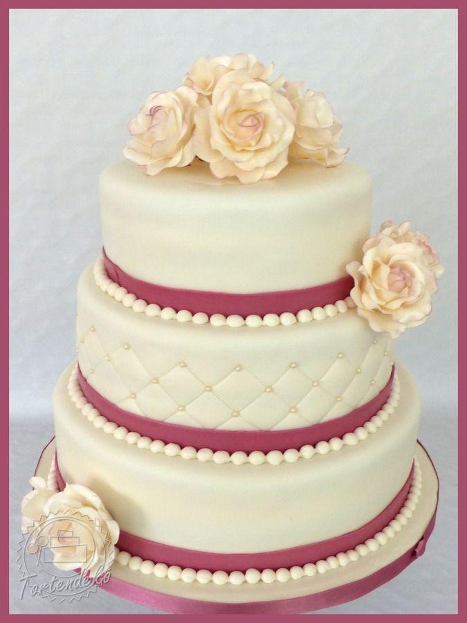 Hochzeitstorte Rosen Weiss Hochzeiten Pinterest