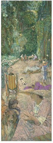 Aux Pavillons à Cricqueboeuf. Devant la Maison - Edouard Vuillard, 1913