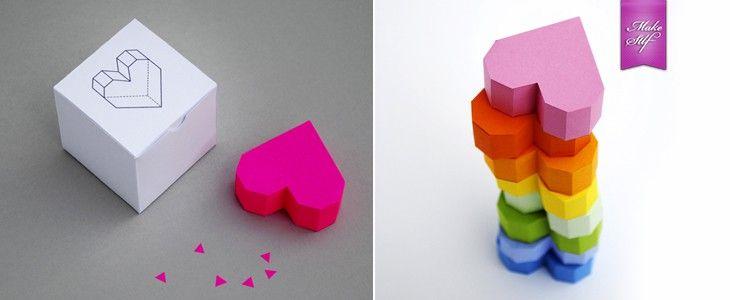 Геометрическое сердце из бумаги {Оригами}