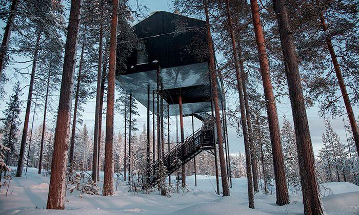 Snøhetta postavila ve švédském lese nový Treehotel