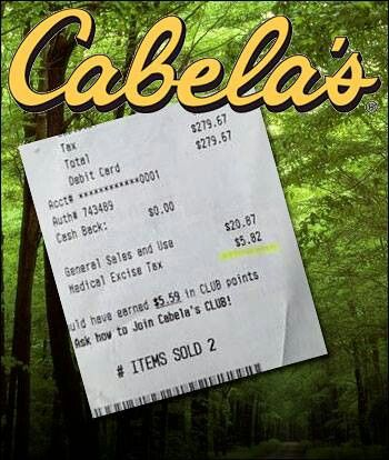 Medical excise tax...cabellas disobeys Obamas orders to hide the tax