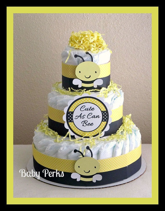 Bumble Bee Diaper Cake Mother To Baby Shower Decorations