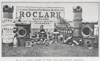 R.O.Clark exhibit of drain pipes and sanitary wares
