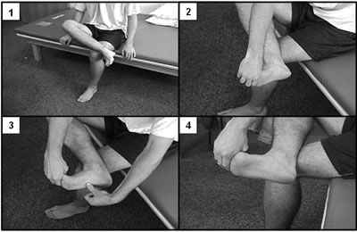 Plantar Fascia-Specific Stretching Program Cross your affected leg over your oth