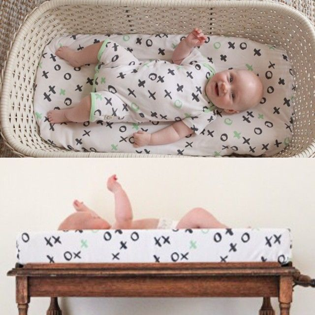 This bassinet fitted sheet doubles as a change table cover! So when bub grows out of the bassinet you can still use it on the change table! Or get two - one for each!  and it's 100% Organic Cotton and Made in Australia! Online now! Link in profile #moonjelly #madeinaustralia #organiccotton #nursery #nurserydecor #interiors