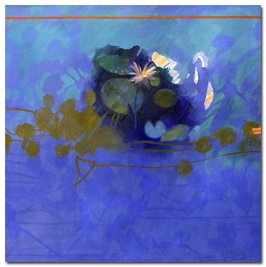 A Full Blossom: Waterlily Series by Margaret Woodward via Gomboc Gallery. More #blue goodness on the RSD Blog.