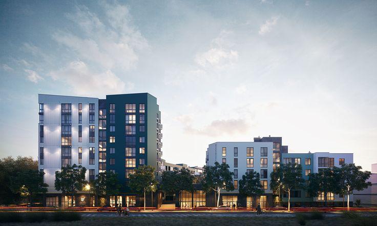 Residential quarter in Rivne, UA on Behance