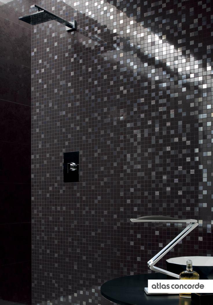 #ADORE #black | #Mosaic | #AtlasConcorde | #Tiles | #Ceramic