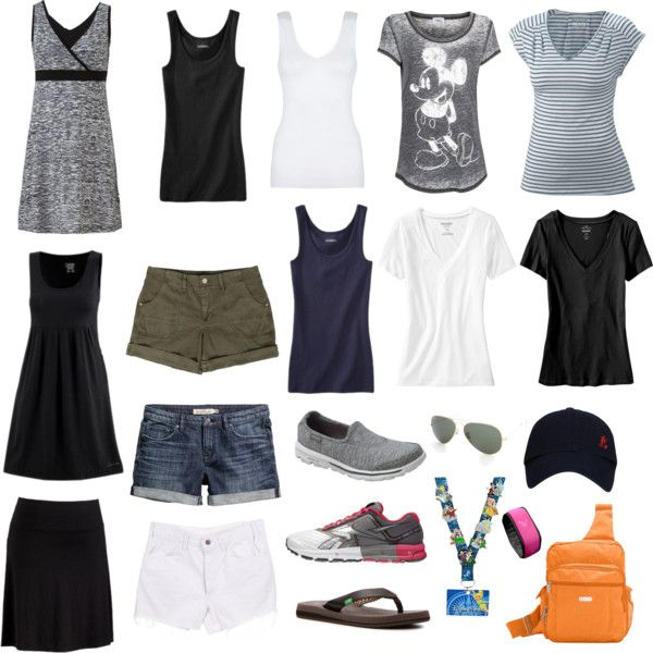 Disney World Capsule Wardrobe 2014 by kristananne on Polyvore featuring Old Navy, MANGO, Columbia Sportswear, Hanro, Merona, Tek Gear, H&M, Skechers, Reebok and Ray-Ban